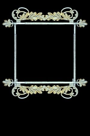 brass rod: vintage metalwork as frame, sign Stock Photo
