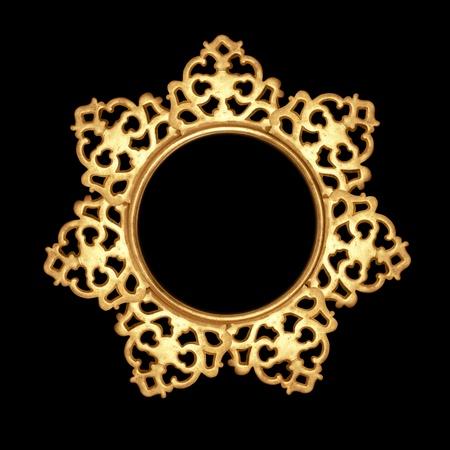 mirror frame: antique metalwork pattern as frame, design element
