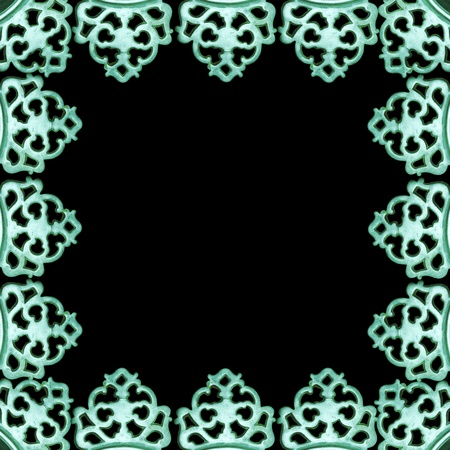 antique metalwork pattern as frame photo