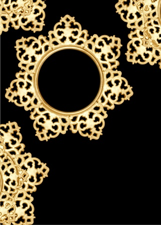 antique metalwork pattern as frame, background Stock Photo - 9228639
