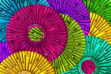 colorful abstract based on fan clutch auto part Stock Photo - 9277325