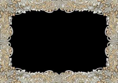 baroque border: Antique leaf, scroll-work pattern as ornate frame