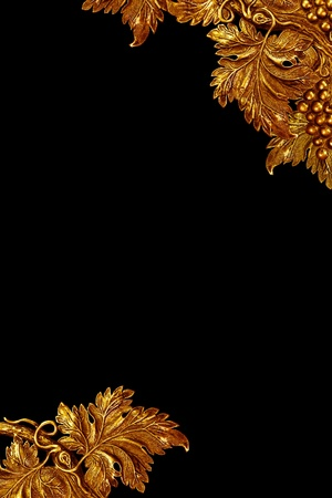 vintage brass grapevine detail background, border Stock Photo - 9667809