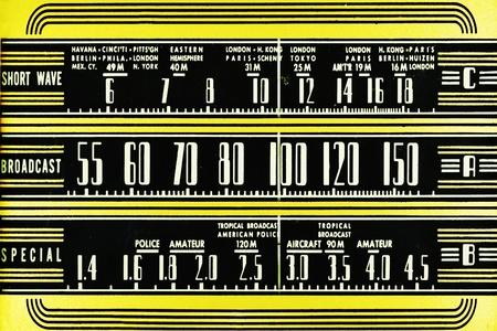 Vintage radio dial Stockfoto