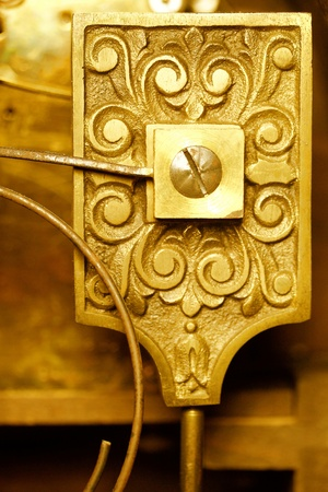 vintage clockworks closeup