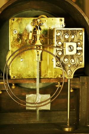 vintage mantle clock interior workings