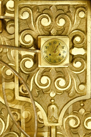 vintage clockworks as abstract design background photo