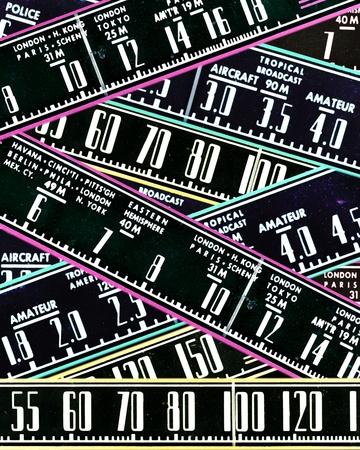 airwaves: retro radio dials as vintage abstract background design