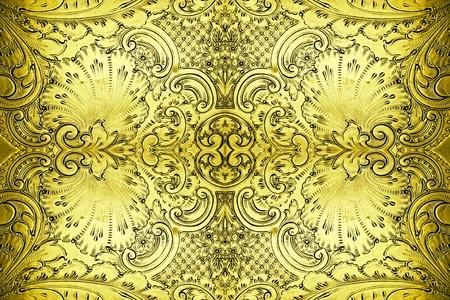 craftsmanship: antique metal design background Stock Photo