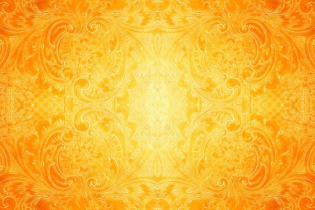 the yellow: antique metal pattern as bright background