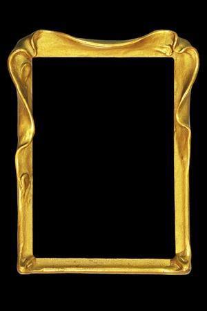 stile liberty: Vintage Art nouveau foto o cornice dello specchio