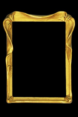 black picture frame: vintage art nouveau picture or mirror frame
