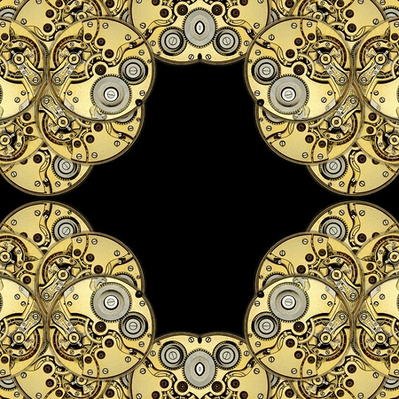 antique clockworks as abstract background design photo