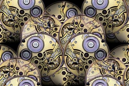 reloj antiguo: antiguo reloj de bolsillo mecánica abstracta