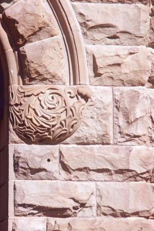 stonemasonry: Stone entrance detail on old building