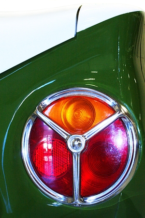 tail light: classic car tail light detail Stock Photo