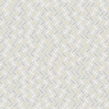 Vector Abstract Scribbles Design in Yellow White Gray and Green on Gray Seamless Repeat Pattern. Background for textiles, cards, manufacturing, wallpapers, print, gift wrap and scrapbooking.