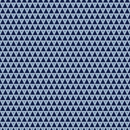Vector Geometric Nested Triangles in Shades of Blue on Blue Background. Background for textiles, cards, manufacturing, wallpapers, print, gift wrap and scrapbooking. Ilustração