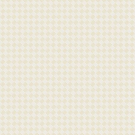 Vector Abstract Basket Weave Design en or sur un motif de répétition sans couture blanc. Contexte pour les textiles, les cartes, la fabrication, les papiers peints, l'impression, l'emballage cadeau et le scrapbooking.