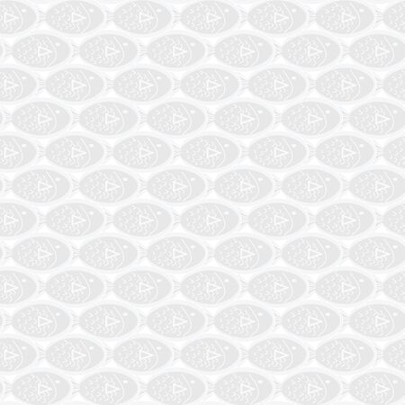 Vector Gray Abstract Fish on White Background Seamless Repeat Pattern. Background for textiles, cards, manufacturing, wallpapers, print, gift wrap and scrapbooking. 向量圖像