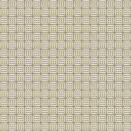 Vector Overlap Weave Grid in Gold Beige on Brown Seamless Repeat Pattern. Background for textiles, cards, manufacturing, wallpapers, print, gift wrap and scrapbooking.