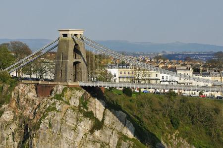 Cliffs and North Tower of Brunells Clifton Suspension Bridge, Avon Gorge, Bristol