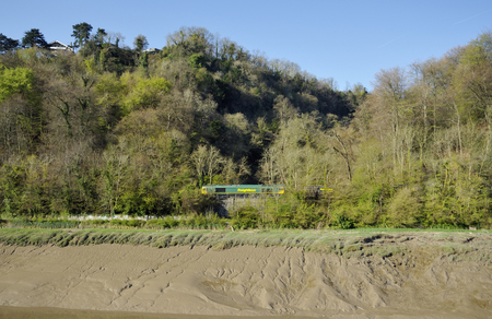 Freightliner Coal Train passes Nightingale Valley in the Avon Gorge, Bristol