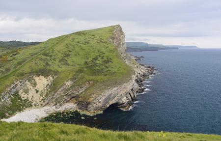gad: Gad Cliff viewed from Worbarrow Tout, Dorset