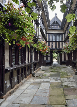 almshouse: Inner Courtyard, Fords Hospital, Greyfriars Lane, Coventry Grade I listed Almshouses