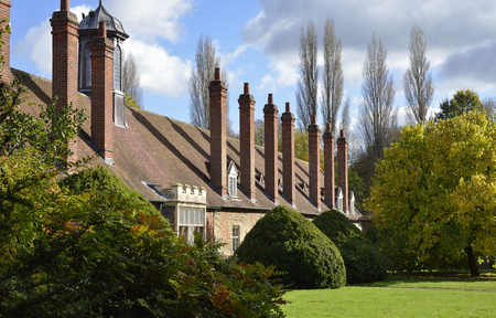 almshouse: Long Alley Almshouse garden, Abingdon; OxfordshireBuilt 1446 Editorial