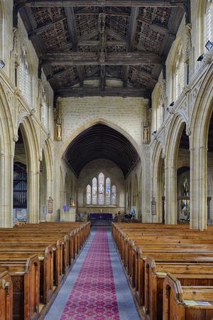 Aisle, Altar & Oak Angel Roof, All Saints Church, Martock Editorial