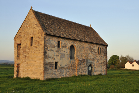 Evening sun on Abbots Fish House, Meare, Somerset