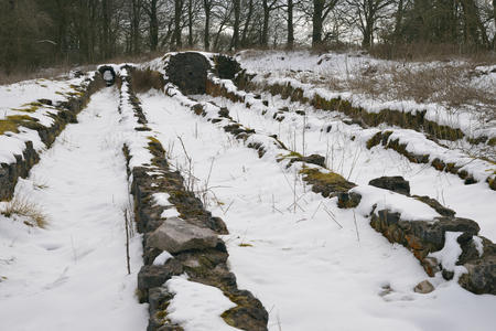Lead Smelting Fumes in Snow, Charterhouse, Mendip Hills