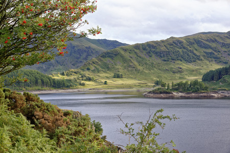 Haweswater & Riggindale with Harter Fell behind left Lake District, Cumbria, UK