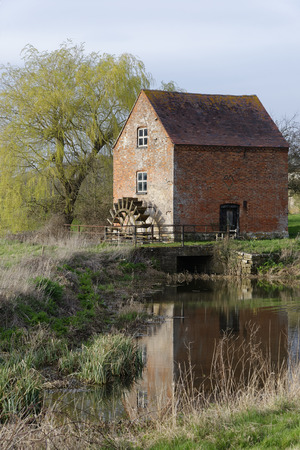 Hartpury Mill, Highleadon, Gloucestershire, UK Brick grade II listed Watermill