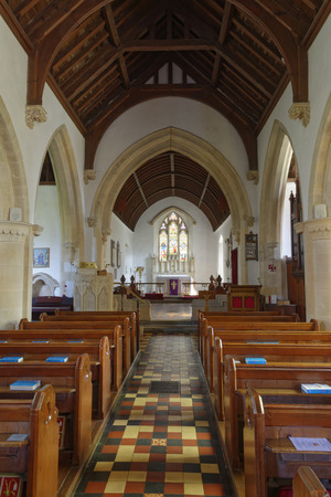 Aisle of St John the Baptist Norman Church, Old Sodbury; South Gloucestershire, UK Redakční
