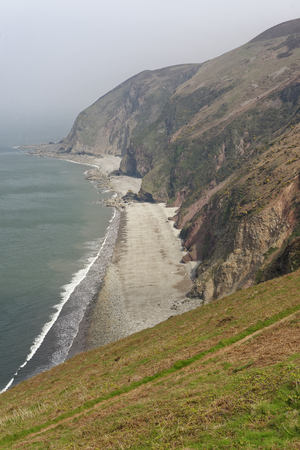 Sillery Sands, Lower Blackhead, Upper Blackhead & Coddow Slip,  Lynmouth Bay, from Countisbury Hill