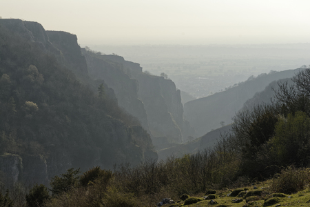 Cheddar Gorge viewed from Piney Sleight, North side of Gorge Reklamní fotografie
