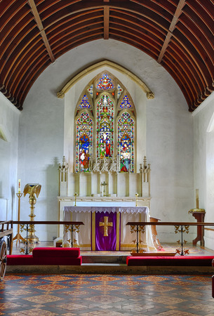 Chancel of St John the Baptist Norman Church, Old Sodbury; South Gloucestershire, UK