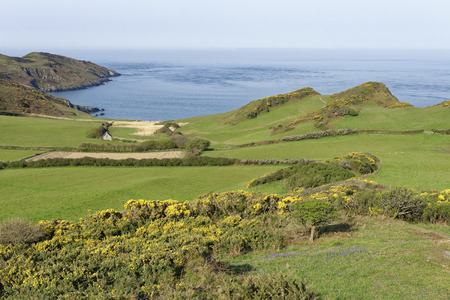 Morte Point & Rockham Bay, North Devon, UK  Viewed from above Bull Point