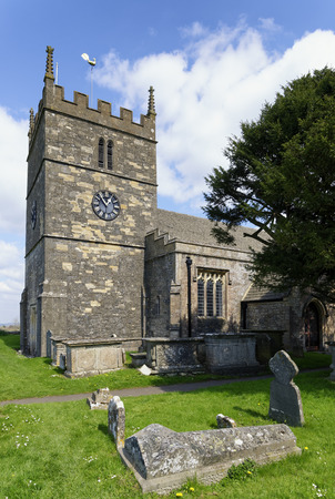 St John the Baptist Norman Church, Old Sodbury; South Gloucestershire, UK Reklamní fotografie