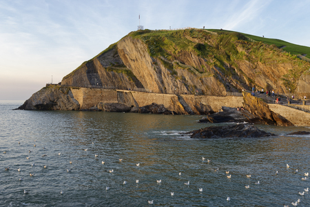 Evening Spring High Tide at Capstone Point, Ilfracombe, Devon, UK Reklamní fotografie