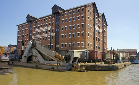 Number 4 Stream Dredger moored alongside Llanthony Warehouse, Gloucester Docks