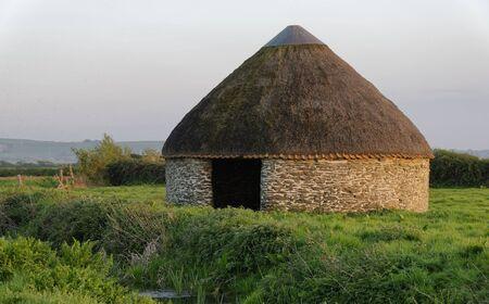 Round Linhay, Braunton Marsh, Devon, UK Grade II listed shelter for cattle Reklamní fotografie