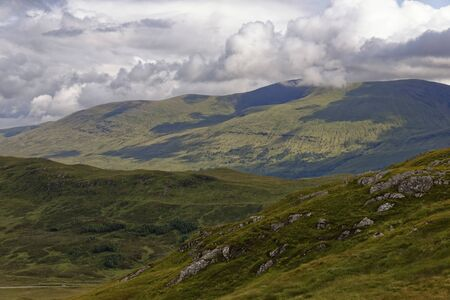 Beinn aChreachain viewed from Meall Mor, Rannoch Moor, Highland, Scotland, UK