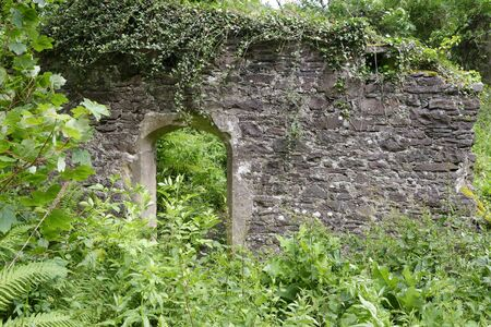 Remains of 15th century Burgundy Chapel, North Hill, Minehead, Somerset, UK
