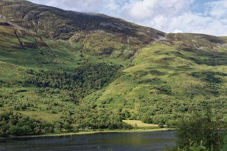 Teanga na h-Earba on the flanks of Mam na Gualainn above Loch Level, Highland, Scotland, UK