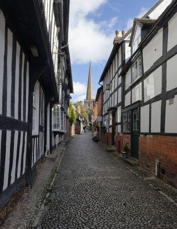 Timber Framed Buildings in Church Lane, Ledbury; Herefordshire