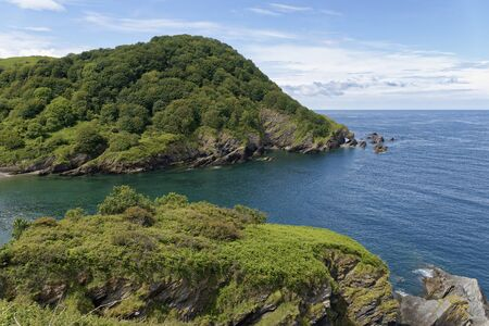 Beacon Point and Hele Bay near Ilfracombe, North Devon Coast, UK