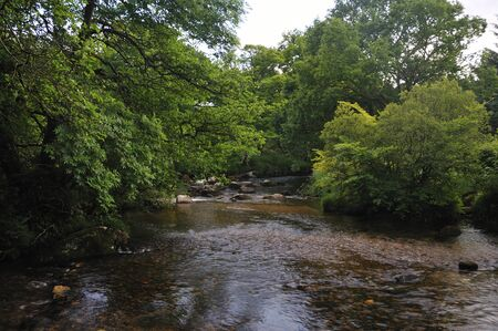 River Dart at Dartmeet, Dartmoor 写真素材